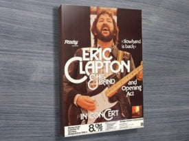 Eric Clapton Vintage Poster Wall Art on Canvas