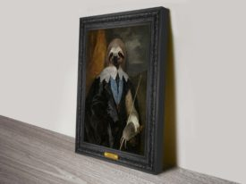 Esquire Sloth Animal Aristocracy Wall Art