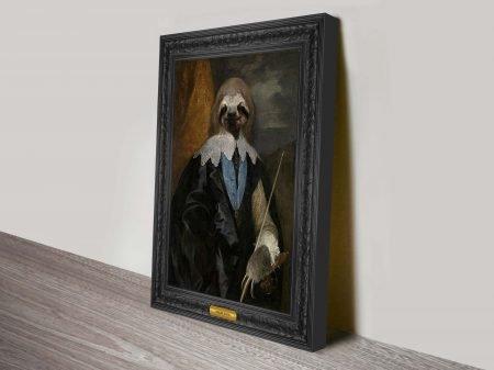 Esquire Sloth Animal Aristocracy Wall Art