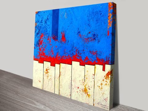 Explanation Abstract canvas print by Donna Dionne