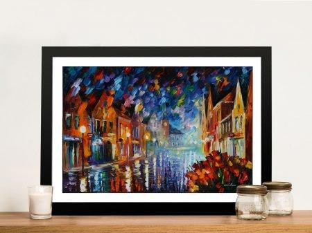 FROZEN NIGHT Afremov Framed Wall Art