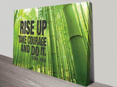 Ezra 10:4 Bible Quote Courageous Inspirational Mounted Framed Art