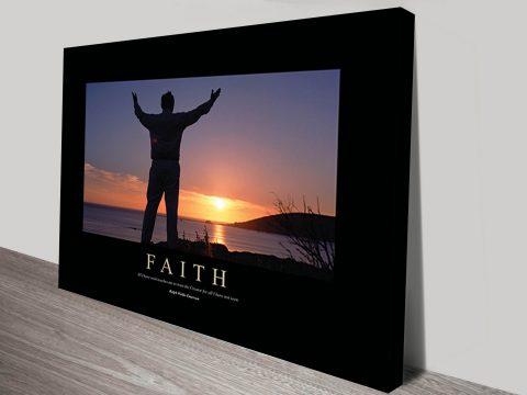 Faith Motivational Poster on Canvas