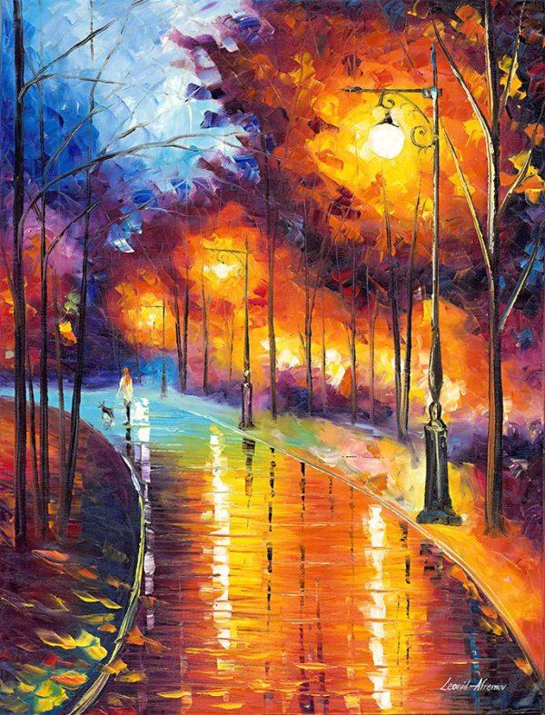 Falling Night Leonid Afremov Print on Canvas