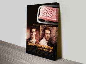 Fight Club Movie Poster Canvas Print
