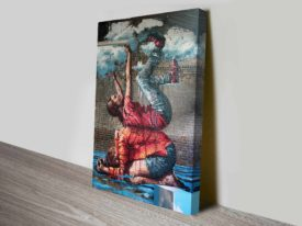 Brisbane Floods by Fintan Magee Graffiti Ready to Hang Canvas Wall Art