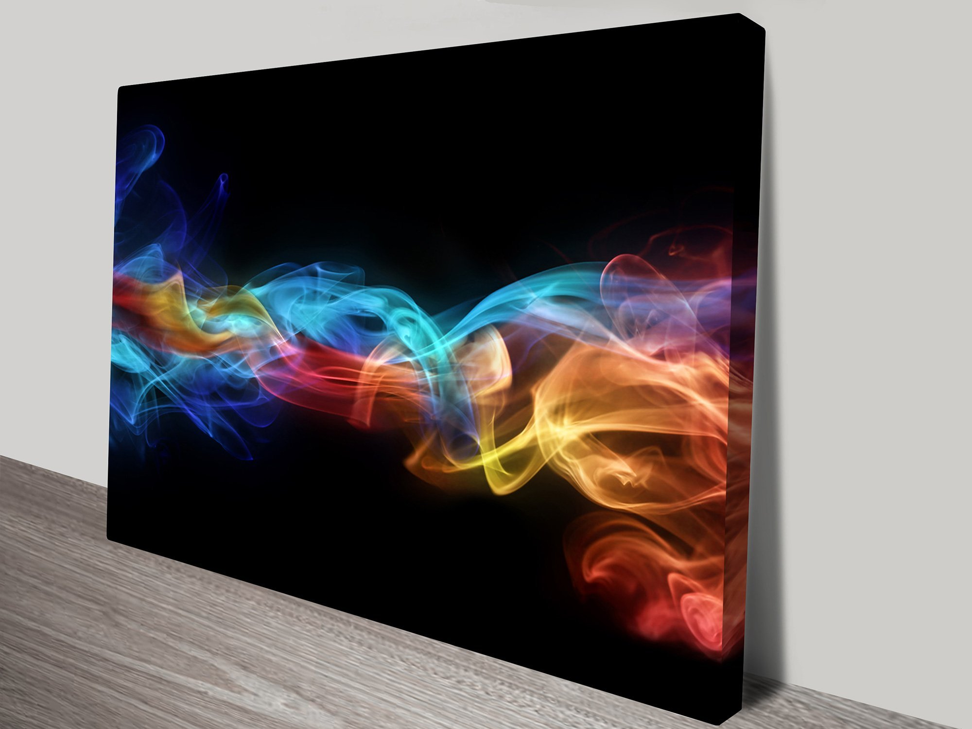Fire Ice Abstract Contemporary Art On Canvas Painting Horizon Prints