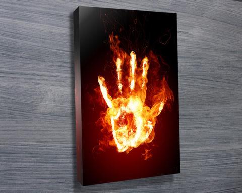 Fire Hand Abstract Wall Art Print