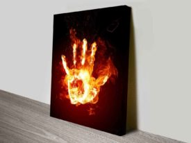 Fire Hand Abstract Wall Art Print