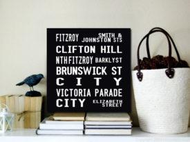 Fitzroy Melbourne Tram Scroll Canvas Prints