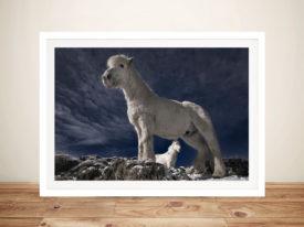 Fjord Horses Mounted Art Print