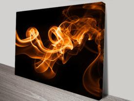 Abstract Flames Abstract Wall Art Print
