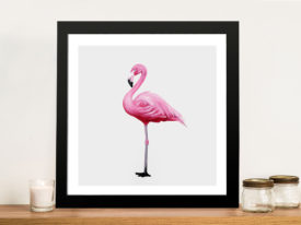 Vibrant Flamingo I Painting Print On Canvas