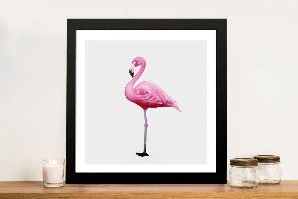 Vibrant Flamingo I Painting Print On Canvas