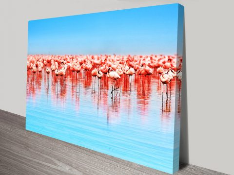 Pink Flamingos Canvas Wall Art