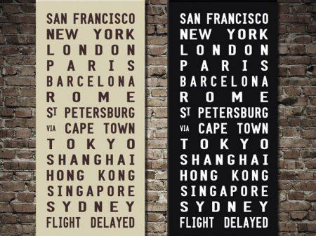 Flights Delayed Tram Scrolls