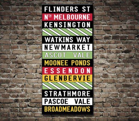 Flinders Street Melbourne Tram Scroll