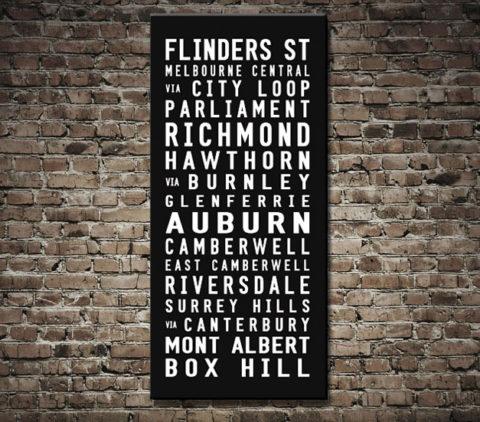 Flinders to Box Hill Tramscroll