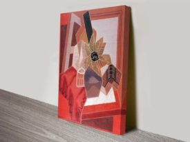 Flowers on the Table by Juan Gris Cubist Reproduction Ready to Hang Art