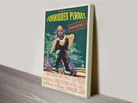 Forbidden Planet Movie Poster Canvas Print