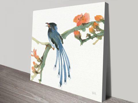 Formosan Blue Magpie Canvas Prints Online