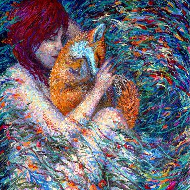Foxglove Iris Scott Canvas Wall Art Print