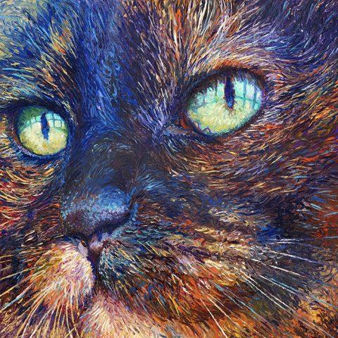 Foxy iris Scott Canvas Artwork