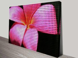 Frangipani Flower Abstract Wall Art Print