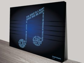 Frank Sinatra My Way Song Lyrics Art