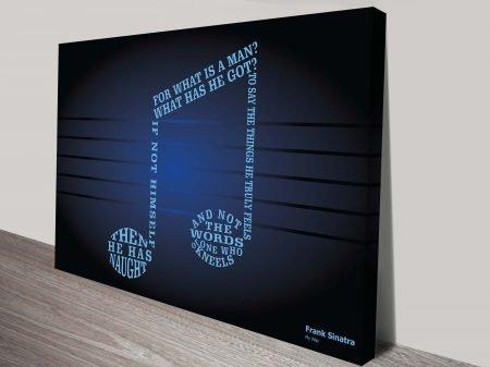 Frank Sinatra My Way Song Lyrics Art