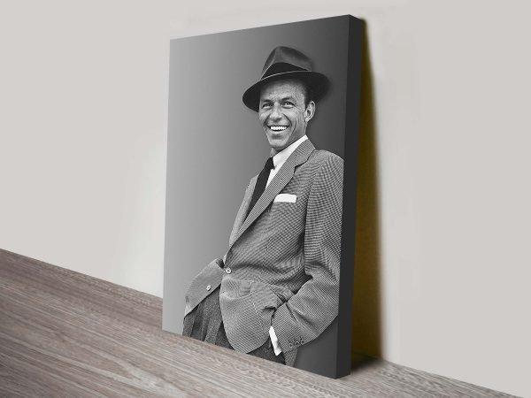 Buy Frank Sinatra canvas wall prints.