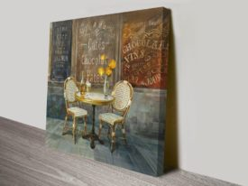 French Cafe Danhui Nai Artwork Print on Canvas