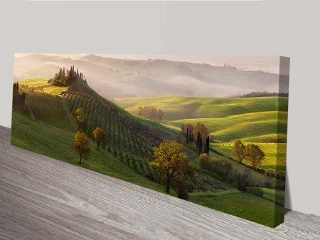 french vinyard panoramic wall art print on canvas
