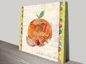 Fruit Collage IV, Orange Art Print on Canvas