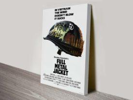 Full Metal Jacket Movie Poster Canvas Print