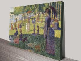 Georges Seurat La Grande Jatte Classical Wall Art On Canvas