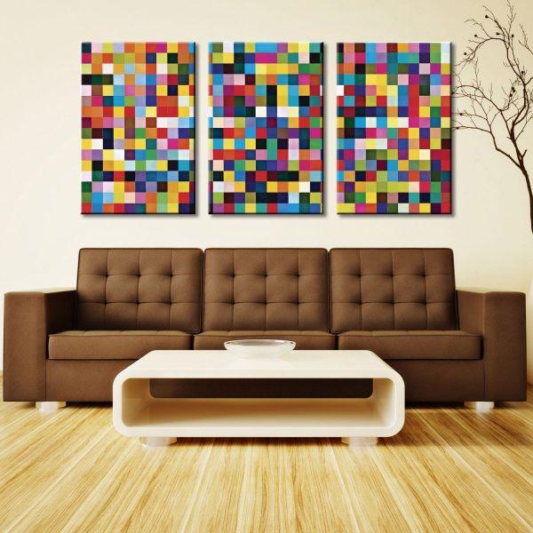 Gerhard Richter 1024 Colours Triptych 3 Panel Wall Art