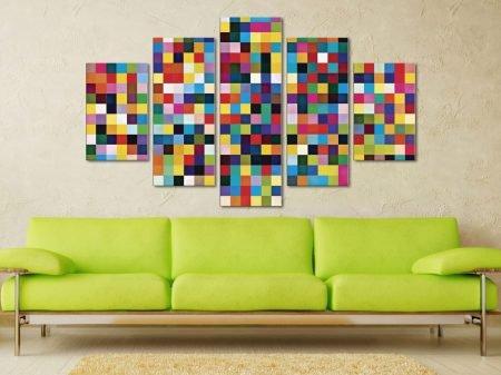 1024 Colours Five Piece Artwork Canvas Prints Online
