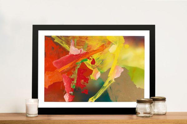 Gerhard Richter Abstrakt Bild Framed Wall Picture