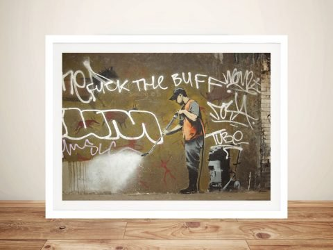 Getting it off the-wall Banksy Framed Wall Art