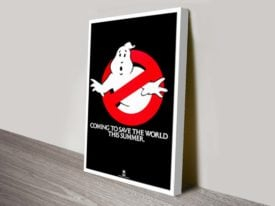 Ghost Busters Movie Poster Canvas Print