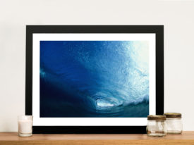 Glass Curtain-vortex Surf Framed Wall Art