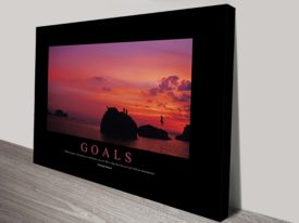 Goals Motivational Poster on Canvas