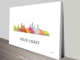 gold coast queensland skyline wall art canvas print