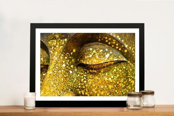 Golden Eyes Buddha Wall Art Melbourne
