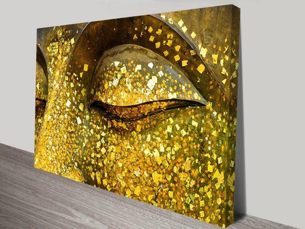 Golden Eyes Buddha Canvas Art