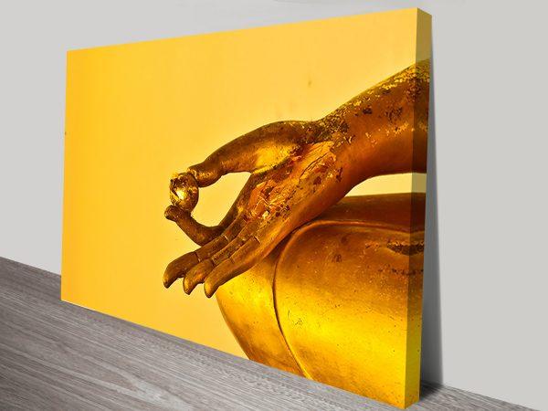 Golden Hand canvas printing