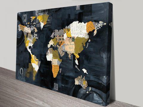 Golden World Art Prints Canvas Gallery