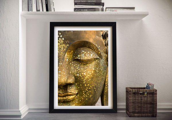 Close Up Of Golden Buddha Face