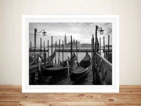 Gondolas in Venice Framed Wall Art